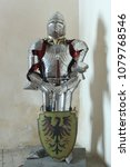 armor of a medieval knight in a ... | Shutterstock . vector #1079768546