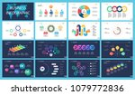 colorful marketing or finance... | Shutterstock .eps vector #1079772836