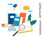 education  online training... | Shutterstock .eps vector #1079775629