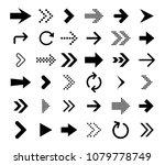 arrow icon collection. vector... | Shutterstock .eps vector #1079778749