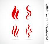 smoke vector icon set... | Shutterstock .eps vector #1079783006