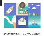 simple things on vacation  ... | Shutterstock .eps vector #1079783804