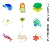 beast icons set. cartoon set of ...   Shutterstock . vector #1079785970