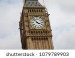 detail of big ben tower  clock... | Shutterstock . vector #1079789903