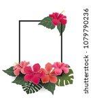 vector illustration of hibiscus ... | Shutterstock .eps vector #1079790236