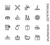icons in thin and linear design.... | Shutterstock .eps vector #1079797493
