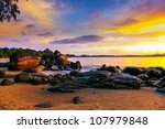 colorful sunset over the sea   Shutterstock . vector #107979848