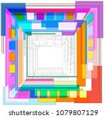 abstract geometric background | Shutterstock .eps vector #1079807129