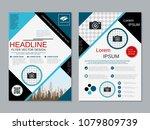 modern geometric style business ... | Shutterstock .eps vector #1079809739