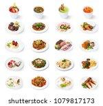set of various restaurant... | Shutterstock . vector #1079817173