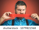 businessman silenced with duct...   Shutterstock . vector #1079821568