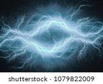 blue lightning  abstract...   Shutterstock . vector #1079822009