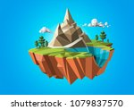 low polygonal geometric trees... | Shutterstock .eps vector #1079837570