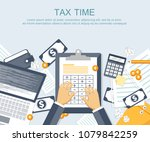 tax payment. government  state... | Shutterstock .eps vector #1079842259