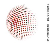 abstract globe dotted sphere ... | Shutterstock .eps vector #1079845058