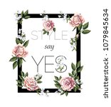 design for print t shirt with... | Shutterstock .eps vector #1079845634