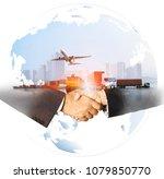 success business of global... | Shutterstock . vector #1079850770