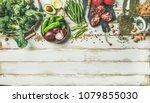 winter vegetarian  vegan food...   Shutterstock . vector #1079855030