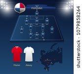 soccer jersey or football kit... | Shutterstock .eps vector #1079858264