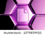 metallic magenta file icon in...