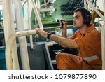 marine engineer inspecting ship'... | Shutterstock . vector #1079877890