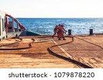 anchor handling tug supply ahts ... | Shutterstock . vector #1079878220