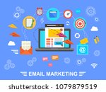 e mail marketing. email.... | Shutterstock .eps vector #1079879519