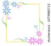flowers on borders vector...   Shutterstock .eps vector #1079880713