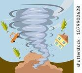 tornado and hurricane... | Shutterstock .eps vector #1079902628