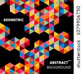 abstract colorful of geometric... | Shutterstock .eps vector #1079906750
