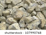detail of a stone pile with big stones - stock photo