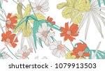 floral seamless pattern ... | Shutterstock .eps vector #1079913503