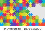 colorful background puzzle.... | Shutterstock .eps vector #1079926070