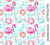 watercolor seamless pattern... | Shutterstock . vector #1079926796