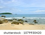 landscape ao sane beach at... | Shutterstock . vector #1079930420