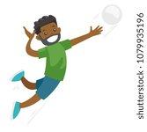 black sportsman playing... | Shutterstock .eps vector #1079935196