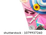 top view of summer holiday... | Shutterstock . vector #1079937260