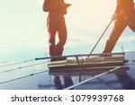 technician operating and... | Shutterstock . vector #1079939768