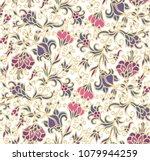 Seamless Vector Floral Ornamen...