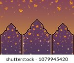 pattern thai style on red and... | Shutterstock .eps vector #1079945420