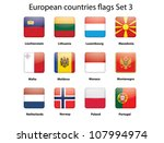 buttons with european countries ... | Shutterstock .eps vector #107994974