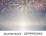 abstract gold and silver... | Shutterstock . vector #1079952443