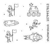 set of vector illustrations of... | Shutterstock .eps vector #1079957813