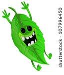cartoon green tea leave | Shutterstock .eps vector #107996450
