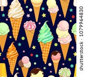 seamless pattern of colorful... | Shutterstock .eps vector #1079964830