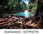 waterfall in thai national park. | Shutterstock . vector #107996744