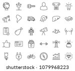 thin line icon set   chart... | Shutterstock .eps vector #1079968223