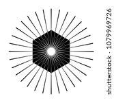 retro sun burst shape. vintage...   Shutterstock .eps vector #1079969726