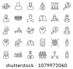thin line icon set   business... | Shutterstock .eps vector #1079972060