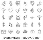 thin line icon set   rabbit... | Shutterstock .eps vector #1079972189